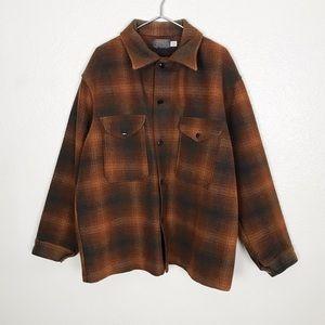 Vintage Pendleton Mens Plaid Wool Shirt Jacket XL